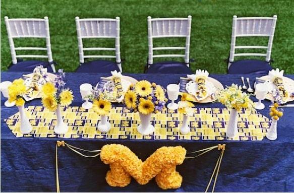 college themed weddings